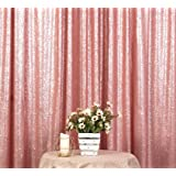 Poise3EHome 4FT x 6FT Sequin Photography Backdrop Curtain for Party Decoration, Blush (Color: Blush, Tamaño: 4x6 ft)