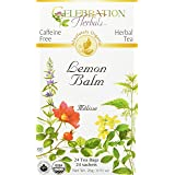 Celebration Herbals Organic Lemon Balm Tea Bags, 24 Count