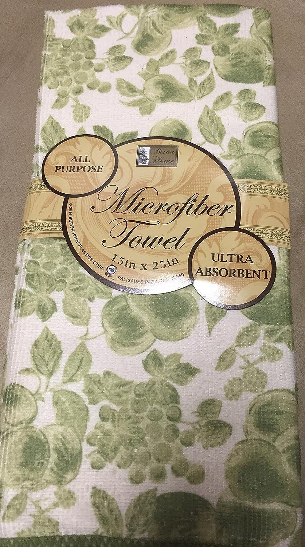 Microfiber Kitchen Towel Ultra Absorbent 12 X 25 Olive Green Fruit & Blue Flower aqua pe ultra olive 3000m 0 18mm 13 80kg