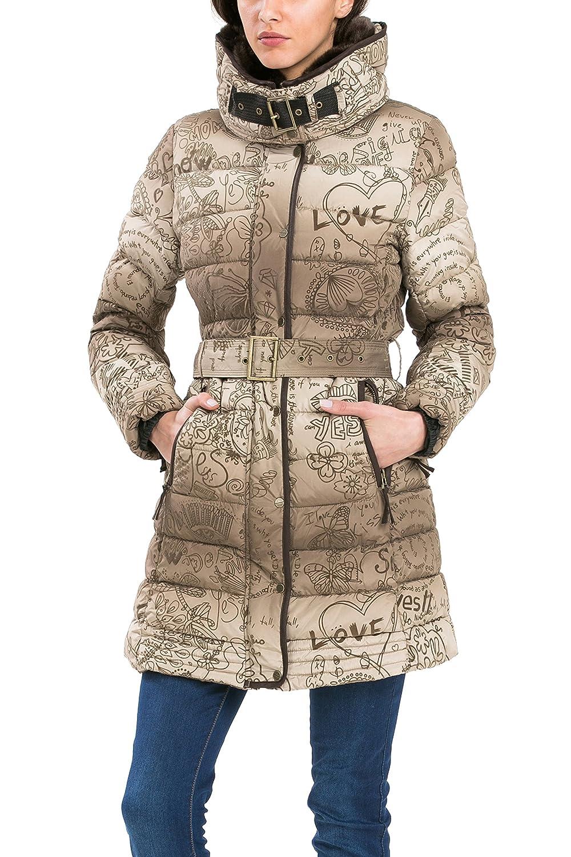 Desigual Abrig Alethea Damen Mantel Jacke Winterjacke Wintermantel hellbraun Padded Overcoat Steppmantel Vison kaufen