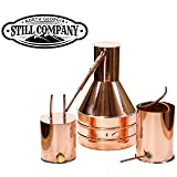 2.5 Gallon Copper Moonshine Still with Worm & Thumper by North Georgia Still Company (Color: Copper, Tamaño: 2.5 Gallon)