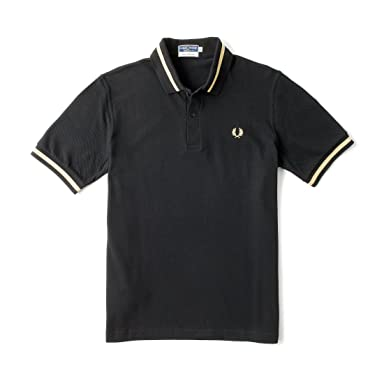 Single Tipped Fred Perry Shirt M2: Black