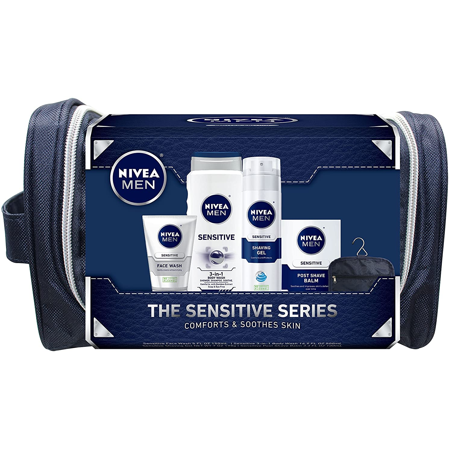 NIVEA Men 4 Piece Sensitive Collection Gift Set