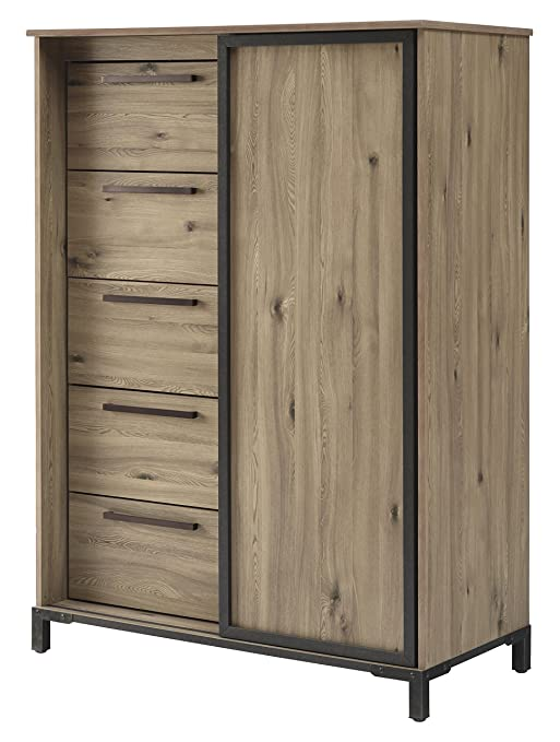 Dexifield Beige Brown Dressing Chest By Ashley Furniture