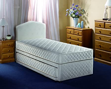 Airsprung Beds Quattro Open Coil Single Guest Bed Set, 90 x 190 cm