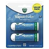 Vicks VapoInhaler Portable Nasal Inhaler, 2 Count, Non-Medicated Vapors to Breathe Easy (Tamaño: 2 Scented Sticks)