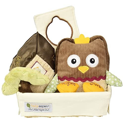 Baby Aspen My Little Night Owl Five-Piece Baby Gift Set