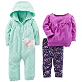 Simple Joys by Carter's Baby Girls' 3-Piece Playwear Set, Mint/Purple Kitty, 6-9 Months (Color: Mint/Purple Kitty, Tamaño: 6-9 Months)