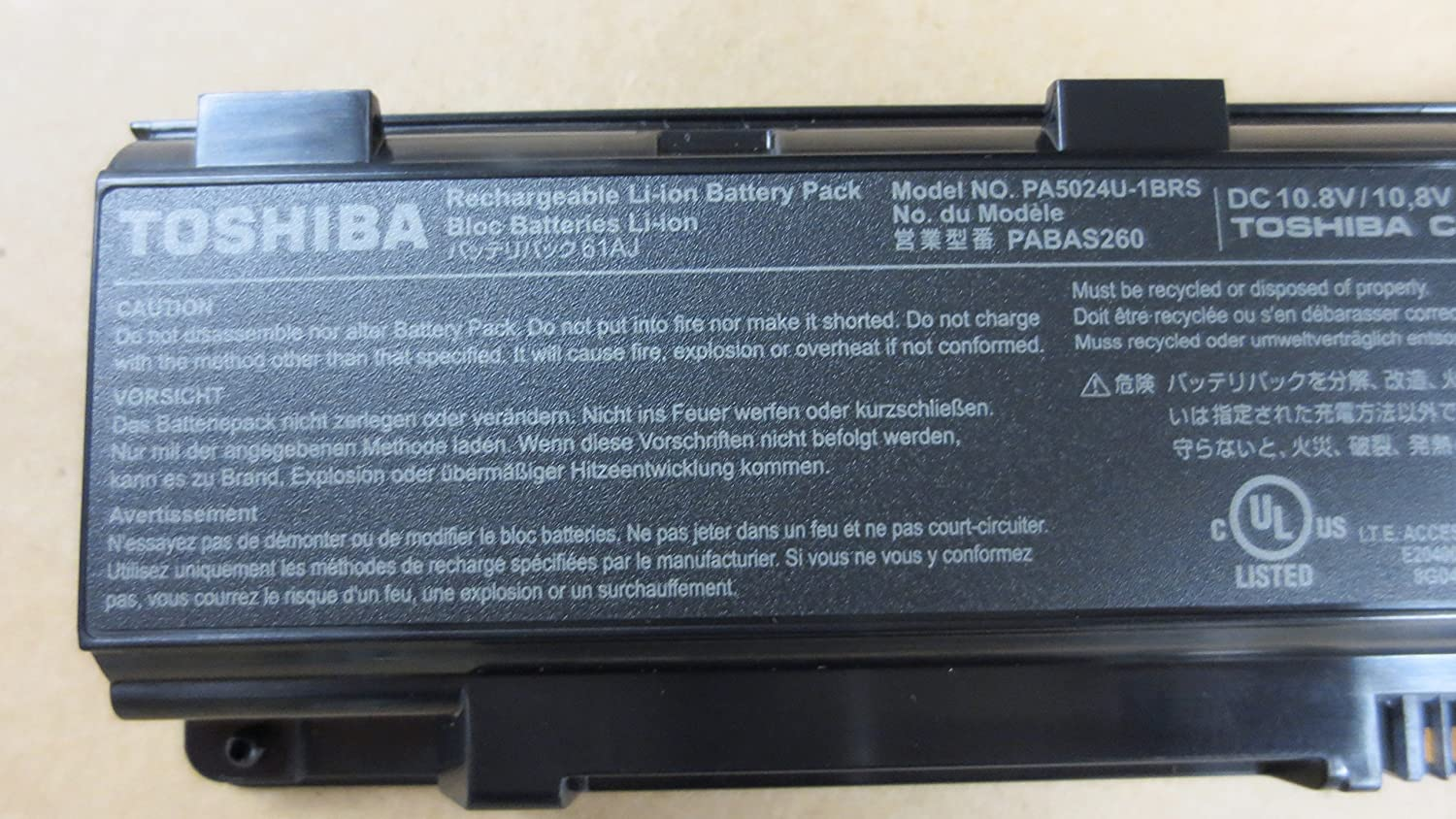 Li-ion Battery 48Wh for Toshiba Satellite C850D/00X Series New Genuine [] k000092540 la 5321p for toshiba satellite l500 l505 series laptop motherboard all functions fully tested