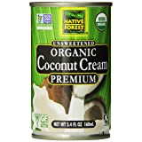 Native Forest Organic Premium Coconut Cream, Unsweetened, 5.4 Ounce (Pack of 12) (Tamaño: 5.4 Fl Oz (12 Count))