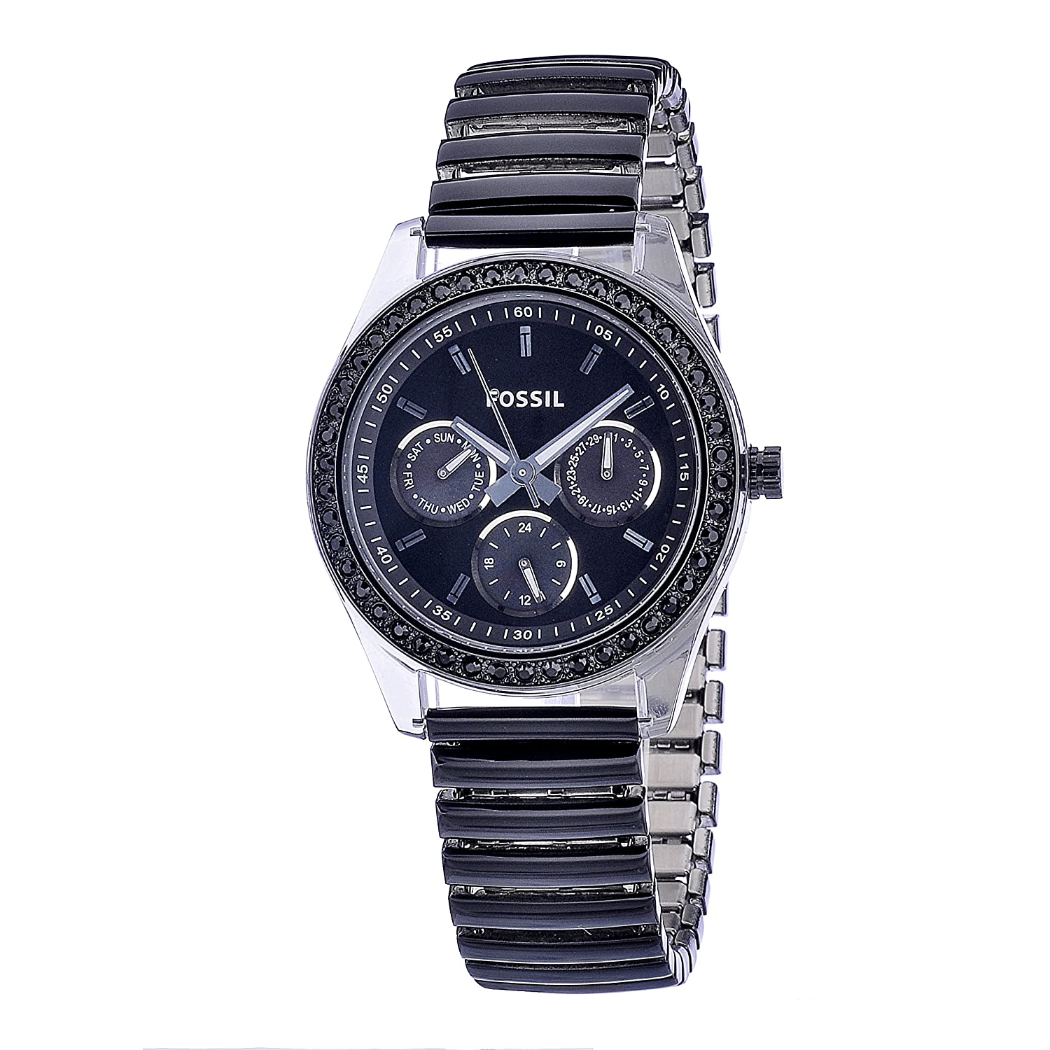 s watches fossil s es2954 black rubber