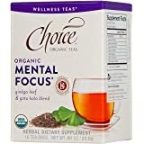 Choice Organic Teas Wellness Tea, Mental Focus, 16 Count (Tamaño: 16 Count)