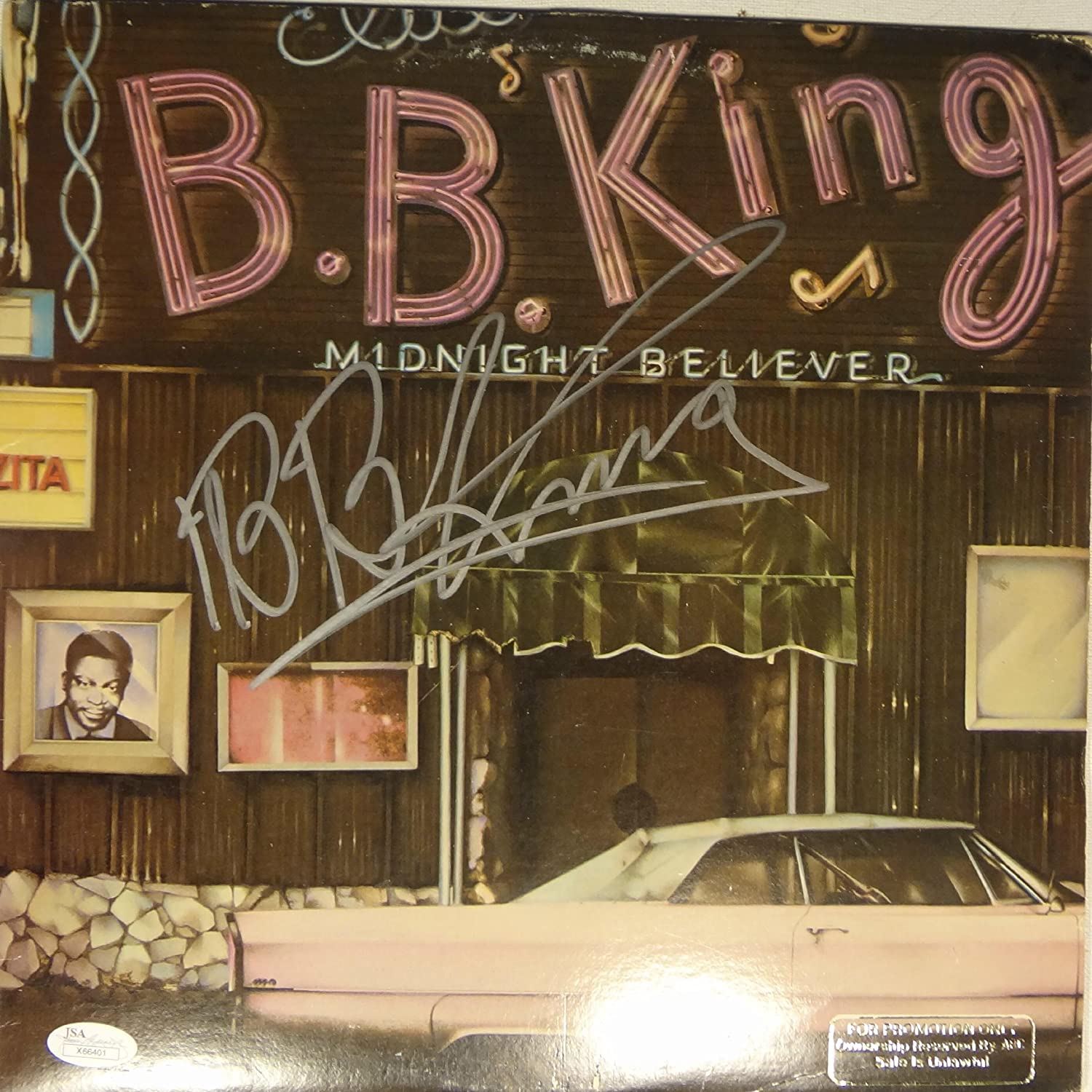 Signed B.B. King Autographed 1978 Midnight Believer Lp Album Jsa Loa # X66401 snsd yoona autographed signed original photo 4 6 inches collection new korean freeshipping 03 2017 01