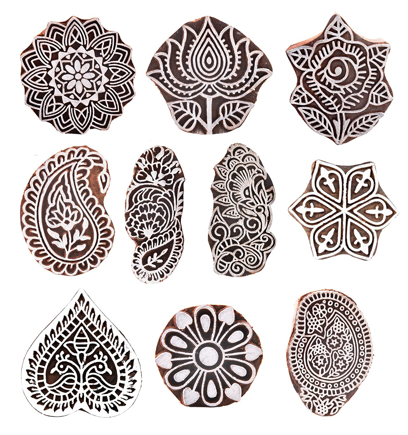 Together with container blocks on t shirt design kit free download - Hashcart Set Of 10 Mughal Design Wooden Printing Stamp Block Hand Carved For