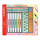 Stabilo Pastel Collection F52064 Set of 13 Mixed Boxes: 6 Swing Cool, 3 Point 88, 3 PointMax with 1 Stencil Ruler