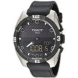 Tissot Men's 'T-Touch Expert' Swiss Quartz Titanium and Leather Casual Watch, Color:Black (Model: T0914204605100) (Color: Black/Silver)