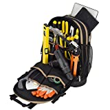 Jackson Palmer Tool Backpack, Contractor's Edition, Comfort-Design with Optimized Pockets (Carpenters Tool Bag with Rubber Base) (Color: Backpack)