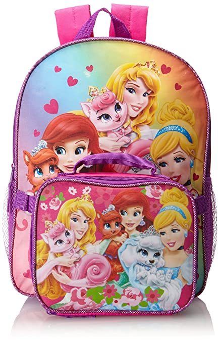 Fast Forward Little Girls' Disney Princess Palace Pets Backpack with Lunch