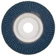 Merit Powerflex Contoured Abrasive Flap Disc, Type 29, Threaded Hole, Aluminum Backing, Zirconia Alumina