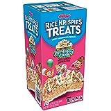 Kellogg's Rice Krispies Treats, Crispy Marshmallow Squares, Birthday Cake, 0.78 oz 14 ct,(Pack of 6)