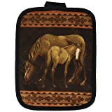 Kay Dee Designs R2002 Mare and Foal Horses Potholder