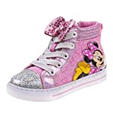 Josmo Girls Minnie Mouse High Top Sneakers, Pink Bow, 7 M US Toddler' (Color: Pink Bow, Tamaño: 7 M US Toddler)