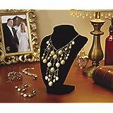 Base Mostrador de joyería Darice 1999-084    de terciopelo en 3D  9 pulgadas, color negro