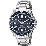 Citizen Men's 'Eco-Drive' Quartz Stainless Steel Diving Watch, Color:Silver-Toned (Model: BN0191-55L) (Color: Silver, Tamaño: One Size)