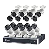 Swann SWNVK-247516-US 24 Channel 5MP HD IP 4TB Security System Kit Network Video Recorder NVR & 16 x 5MP Surveillance Bullet Camera (Color: Gray)