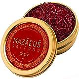 Mazaeus Saffron, Premium Saffron Threads (Grade 1), All-Red Saffron Spice, Highest Quality Persian Saffron for Culinary Use (2 grams) (Tamaño: 2 grams)