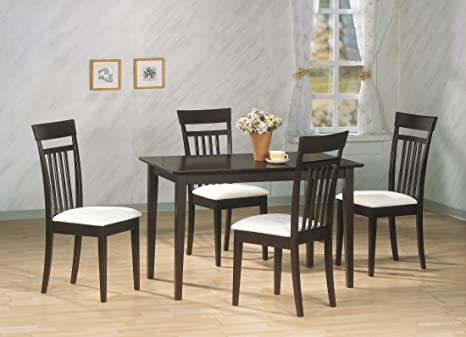 Monarch Specialties 5-Piece Dining Set, Cappuccino