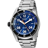 Nixon Men's A9591258-00 Descender Analog Display Swiss Quartz Silver Watch (Color: Blue Sunray, Tamaño: One Size)