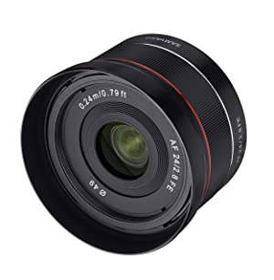 Samyang 24mm F/2.8 Prime Fixed Auto Focus Wide Angle Lens, Black (SYIO24AF-E) (Color: Black)