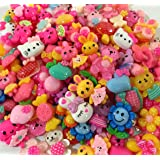Incredible art Mixed lot Cartoon and animal Resin Flatback cute Cabochons Decoden Pieces,20pc per packet. (Color: Cartoon)