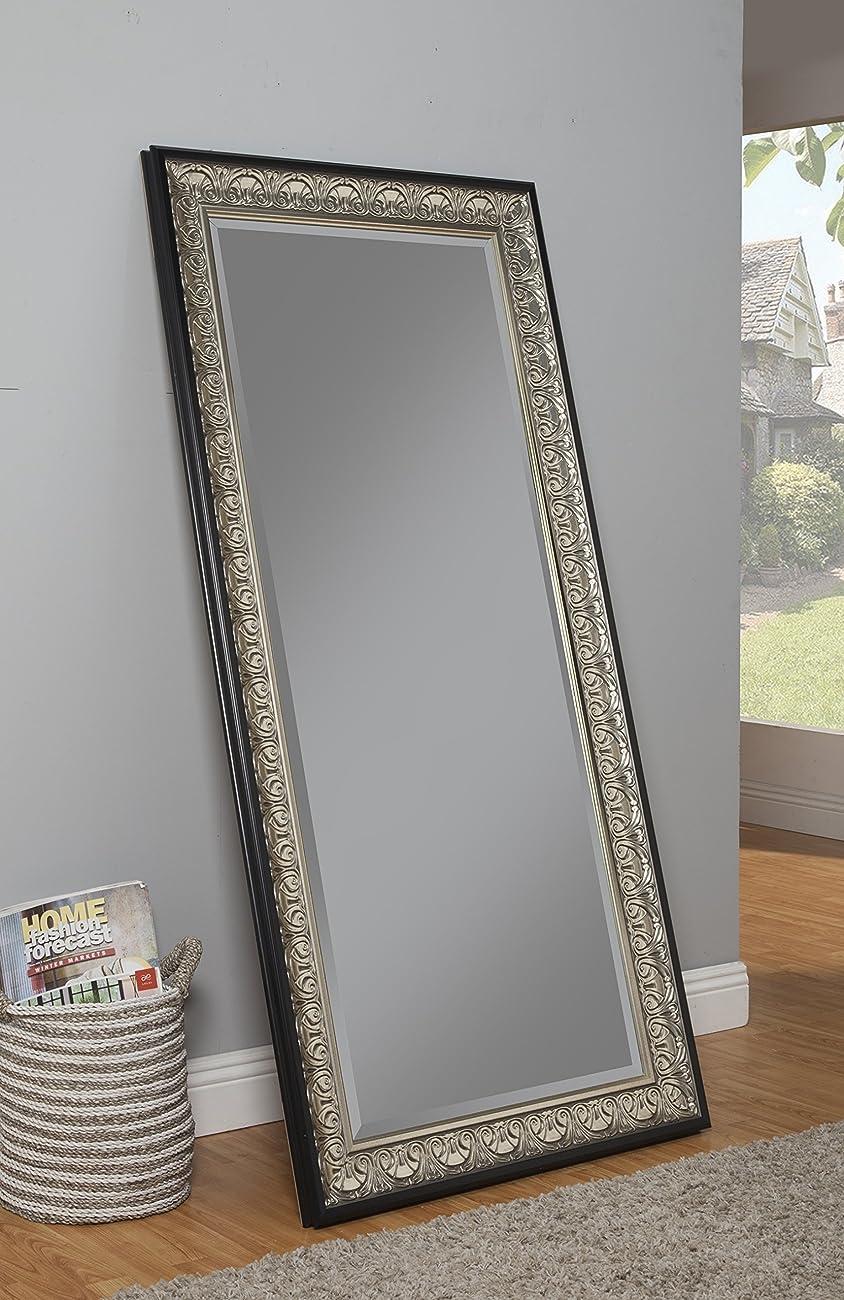 Sandberg Furniture 16011 Full Length Leaner Mirror Frame, Antique Silver/Black 2