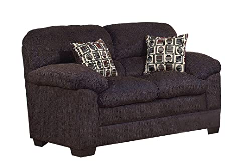 ACME 50406 Maxine Loveseat with Mocha Chenille