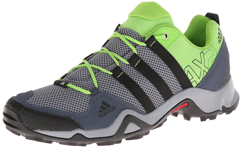 Adidas Ax 2 Hiking Shoes Grey Blend/Black/Tech Beige Mens