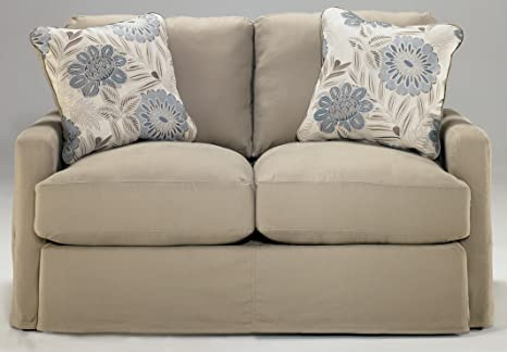 Signature Design by Ashley - Addison Khaki Loveseat