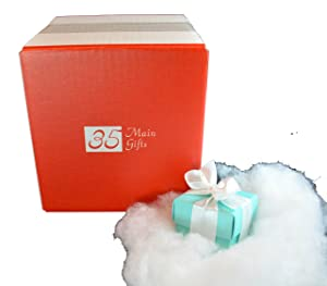 35 Main Gifts Lump of Coal in 2 Glacial Blue Box with Embossed Gift Card
