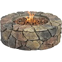 Best Choice Products Stone Design Outdoor Home Patio Gas Firepit