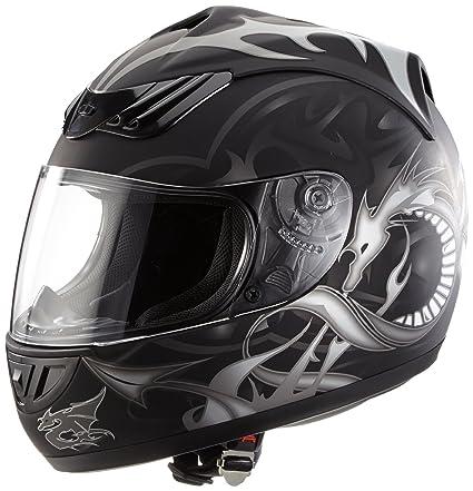 protectWEAR - Noir Design casque de moto H-510-11 dragon - M