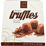 Donckels Cocoa Dusted Belgian Chocolate Truffles - 1 LB Box (Tamaño: 1- Pack)