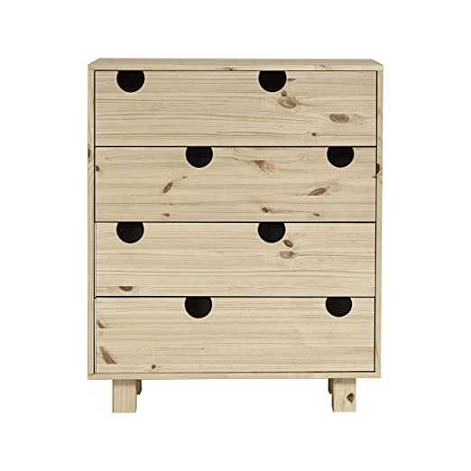 Karup House 4-Drawer espacio de almacenamiento, madera, natural, 75x 40x 90cm