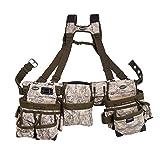 Bucket Boss 3 Bag Tool Bag Set with Suspenders in Digital Camo, 55185-DIGC (Color: Digital Camo)