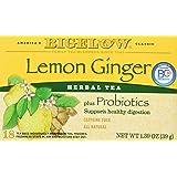 Bigelow Classic Lemon Ginger Herbal Tea Plus Probiotics 18 Bags (3 Pack) (Tamaño: 20ct)