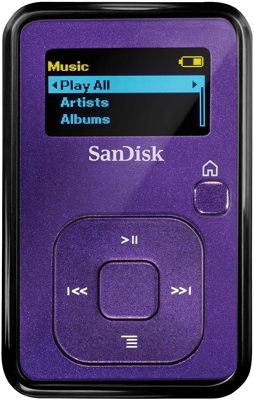 Comparer SANDISK SANSA CLIP SDMX18R004GIE57 VIOLET 4GO