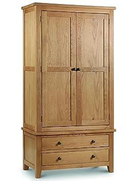 Julian Bowen Marlborough Combination Wardrobe, Waxed Oak