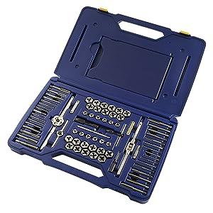 IRWIN Tools 76 Piece Machine Screw/Fractional/Metric Tap and Hex Die Super Set (26376) (Tamaño: 76-Piece)