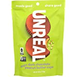 UNREAL Gluten-Free, Vegan, Non-GMO Dark Chocolate Crispy Peanut Butter Cups - 1 Bag (Tamaño: 4 oz)