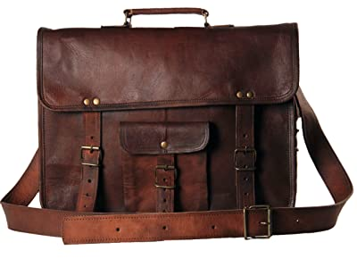 Handmadecart Leather Messenger Bags for Men and Women Laptop 15 Inch Briefcase review